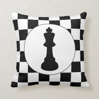 Chess King Piece - Pillow - Chess Themed Gift