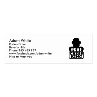 Chess king player business card