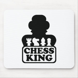 Chess king player mouse pad