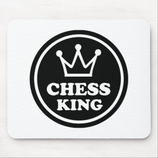 Chess king player mouse pads