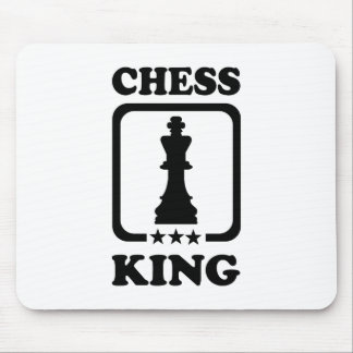 Chess king player mousepads