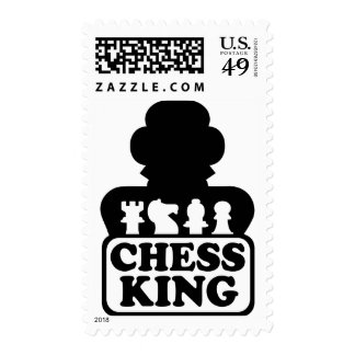 Chess king player postage stamp
