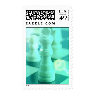 Chess King Postage Stamp
