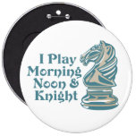 Chess Knight 6 Inch Round Button