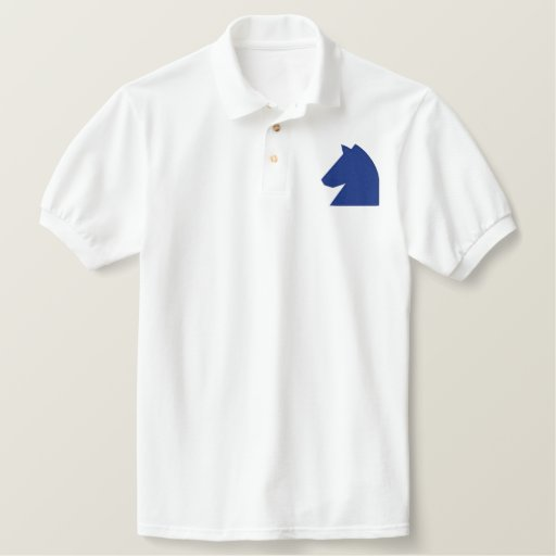 CHESS KNIGHT EMBROIDERED POLO SHIRT