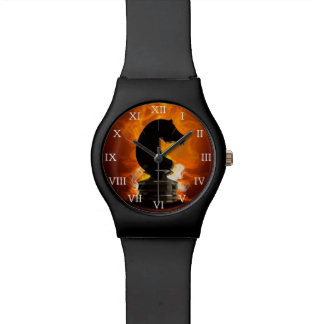 Chess Knight in Flames Watch