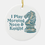 Chess Knight Double-Sided Ceramic Round Christmas Ornament