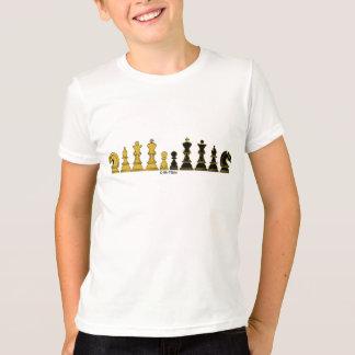 Chess Line-UP, Kid's t-shirt, wit-t-shirt T-Shirt