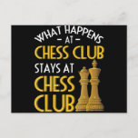 Chess Lover | What Happens At Chess Club Humor Holiday Postcard