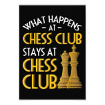 Chess Lover | What Happens At Chess Club Humor Invitation