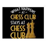 Chess Lover   What Happens At Chess Club Humor Postcard