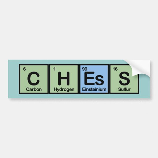 Chess Made of Elements Car Bumper Sticker