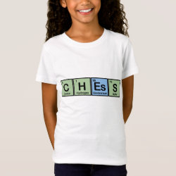 Girls' Fine Jersey T-Shirt with Chess design