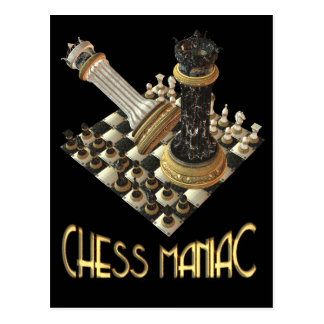 Chess Maniac Postcard