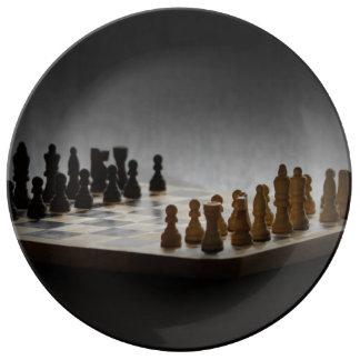 Chess Porcelain Plates