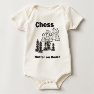 Chess Master On Board Baby Bodysuit