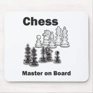 Chess Master On Board Mouse Pad