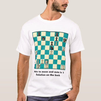 Chess Mate In 1 Puzzle #1 Basic T-Shirt