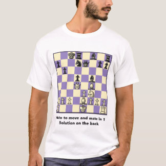 Chess Mate In 1 Puzzle #2 Basic T-Shirt