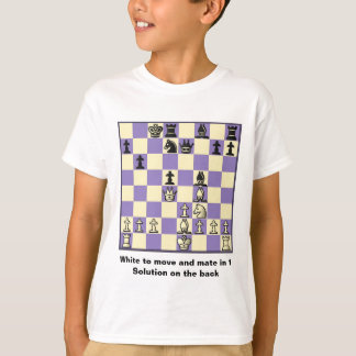 Chess Mate In 1 Puzzle #2 Kids T-Shirt