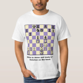 Chess Mate In 1 Puzzle #2 Value T-Shirt