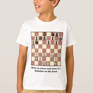 Chess Mate In 1 Puzzle #4 Kids T-Shirt