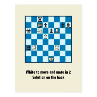 Chess Mate In 2 Puzzle 1 Postcard