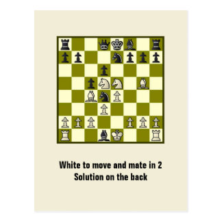 Chess Mate In 2 Puzzle #2 Postcard