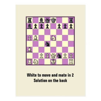 Chess Mate In 2 Puzzle 3 Postcard