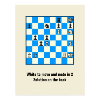 Chess Mate In 2 Puzzle 5 Postcard