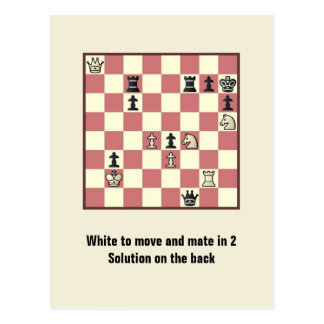 Chess Mate In 2 Puzzle #6 Postcard