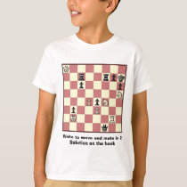 Chess Mate In 2 Puzzle #6 T-Shirt