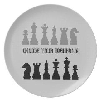 chess melamine plate