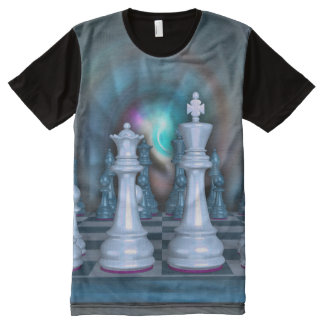 Chess Men's All-Over Printed Panel T-Shirt