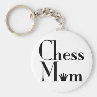 Chess Mom Basic Round Button Keychain
