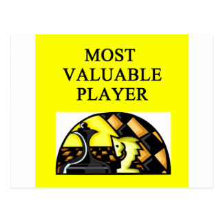 CHESS most valuable player Postcard