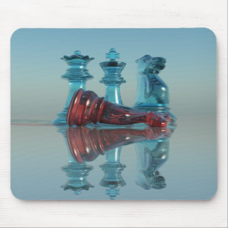 Chess Mousepad - King Queen Knight Chess