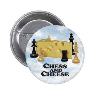 Chess N Cheese - Round Button
