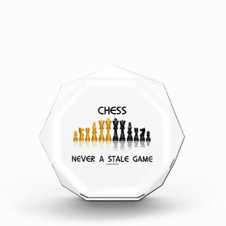Chess Never A Stale Game (Reflective Chess Set) Acrylic Award