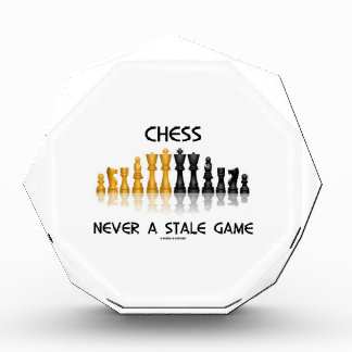 Chess Never A Stale Game (Reflective Chess Set) Awards