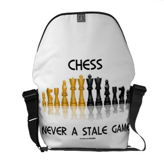 Chess Never A Stale Game (Reflective Chess Set) Courier Bag
