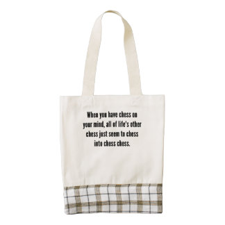 Chess On Your Mind Zazzle HEART Tote Bag