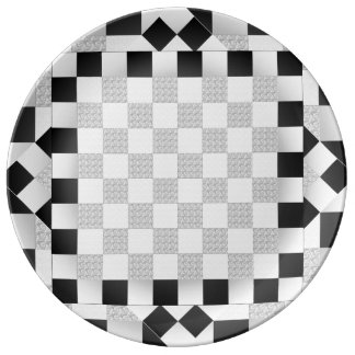 Chess Pad Porcelain Plate