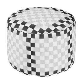Chess Pad Round Pouf