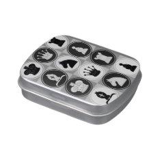 Chess Pattern Candy Tins at Zazzle