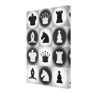 Chess Pattern Canvas Print