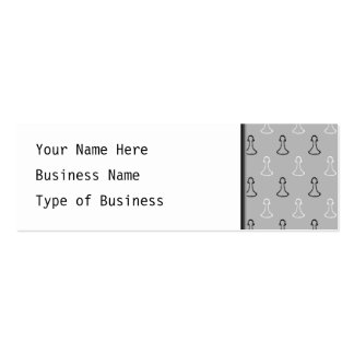 Chess Pattern. Double-Sided Mini Business Cards (Pack Of 20)