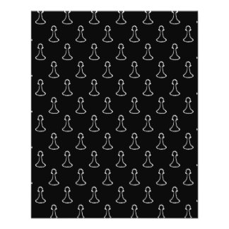 Chess Pattern in Black and White. Personalized Flyer