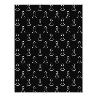 Chess Pattern in Black and White. Flyer Design