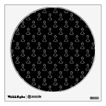 Chess Pattern in Black and White. Wall Decal
